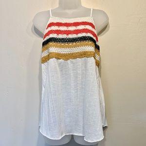 Crave Fame | Knit Crochet Spaghetti Strap Tank Top